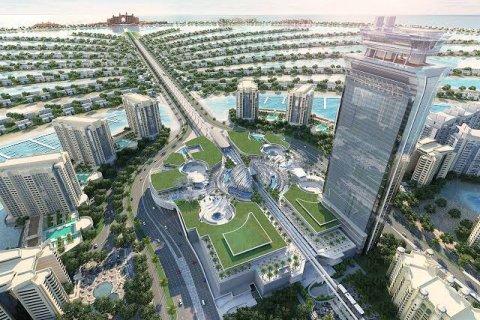 Palm Jumeirah es una de las cinco regiones más grandes para la venta de villas y apartamentos