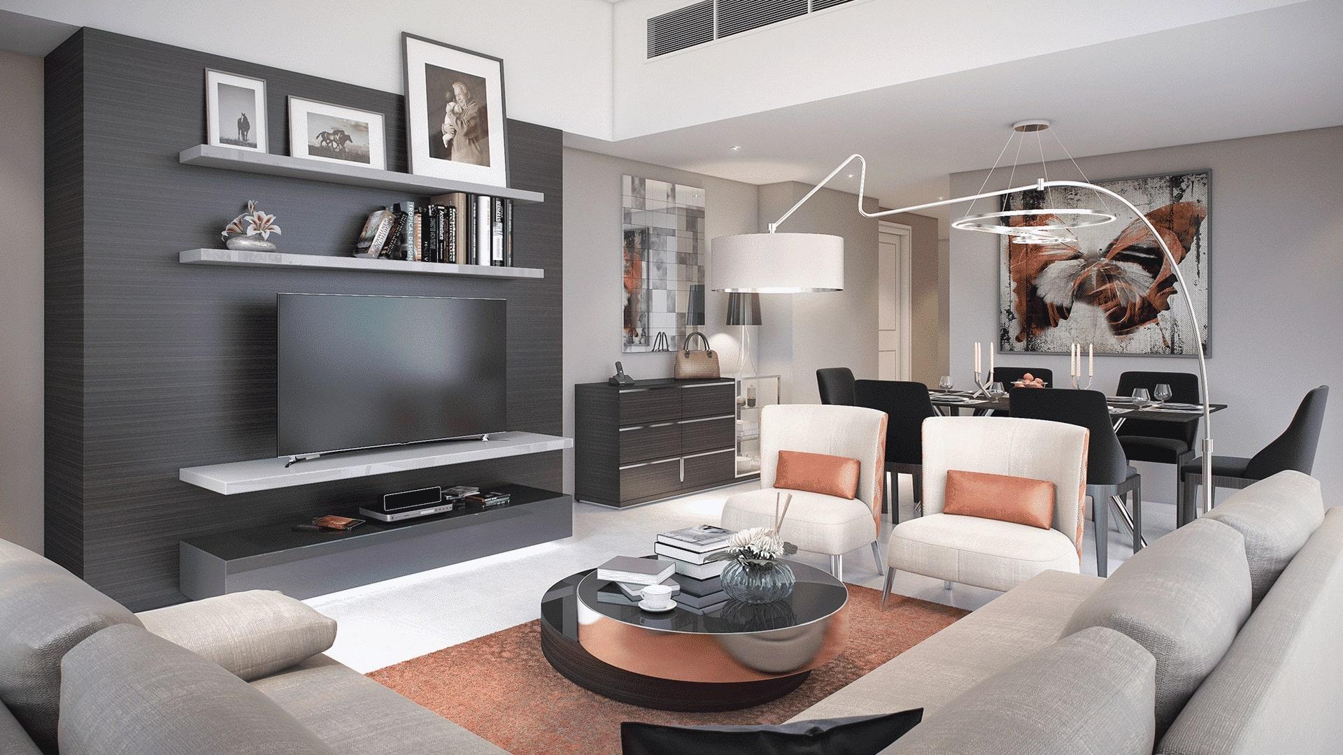Apartamento en venta en Dubai, EAU, 2 dormitorios, 92 m2, № 24119 – foto 1
